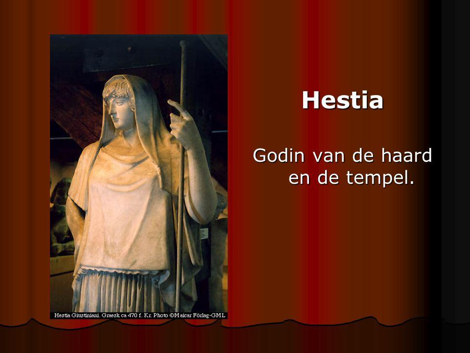 Hestia Godin van de haard en de tempel.