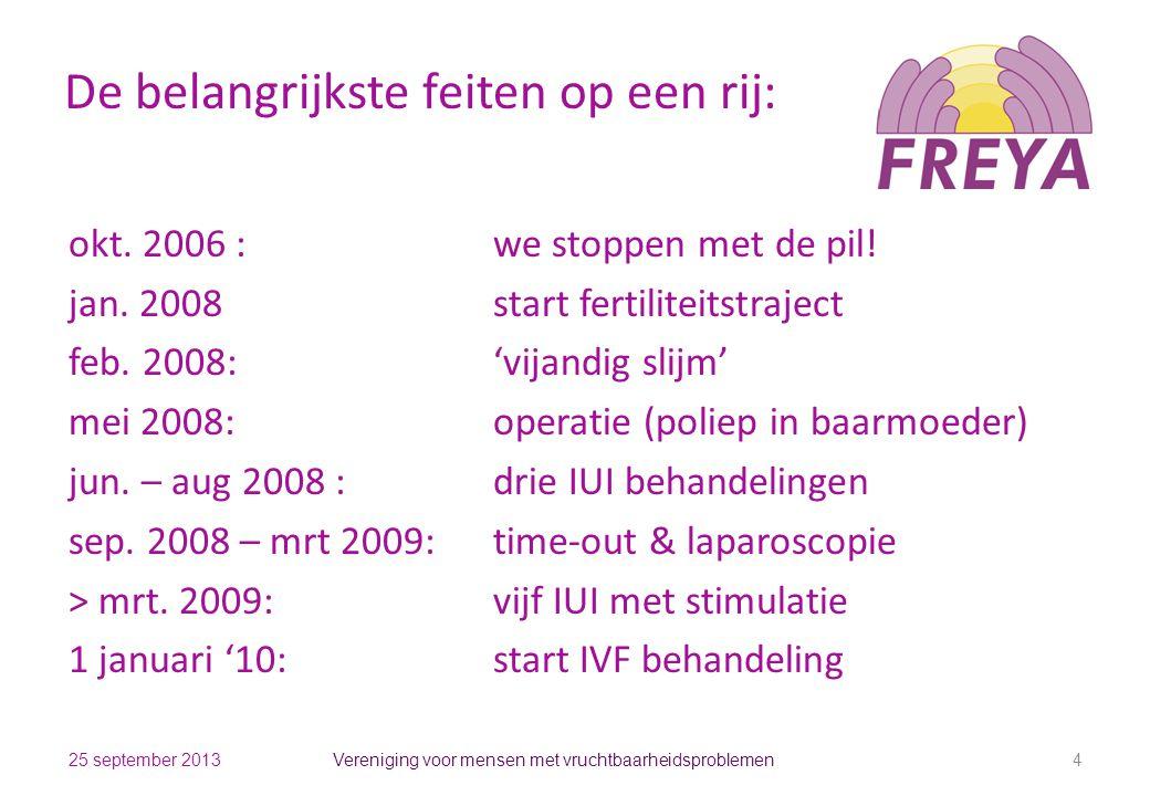 De belangrijkste feiten op een rij: okt. 2006 : we stoppen met de pil! jan. 2008start fertiliteitstraject feb. 2008:'vijandig slijm' mei 2008:operatie