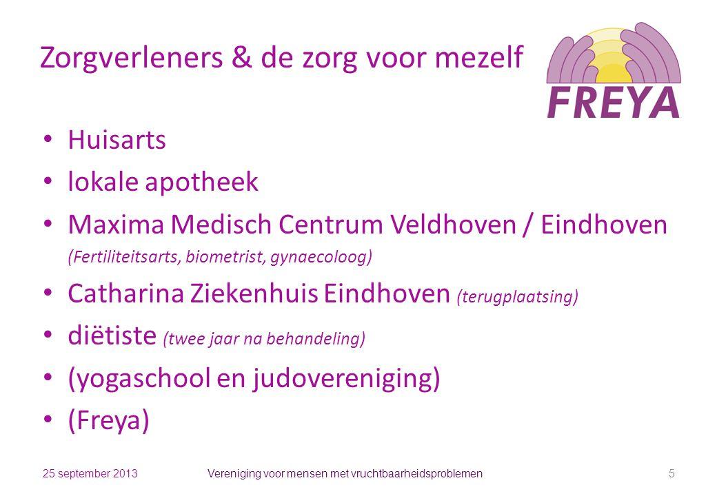 Zorgverleners & de zorg voor mezelf Huisarts lokale apotheek Maxima Medisch Centrum Veldhoven / Eindhoven (Fertiliteitsarts, biometrist, gynaecoloog)