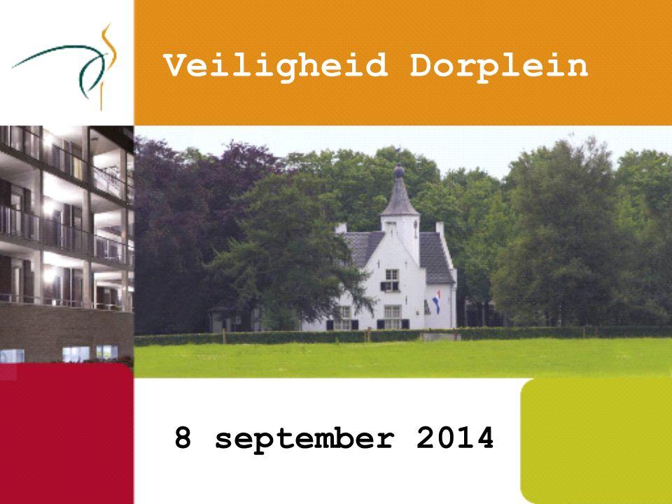 8 september 2014 Veiligheid Dorplein