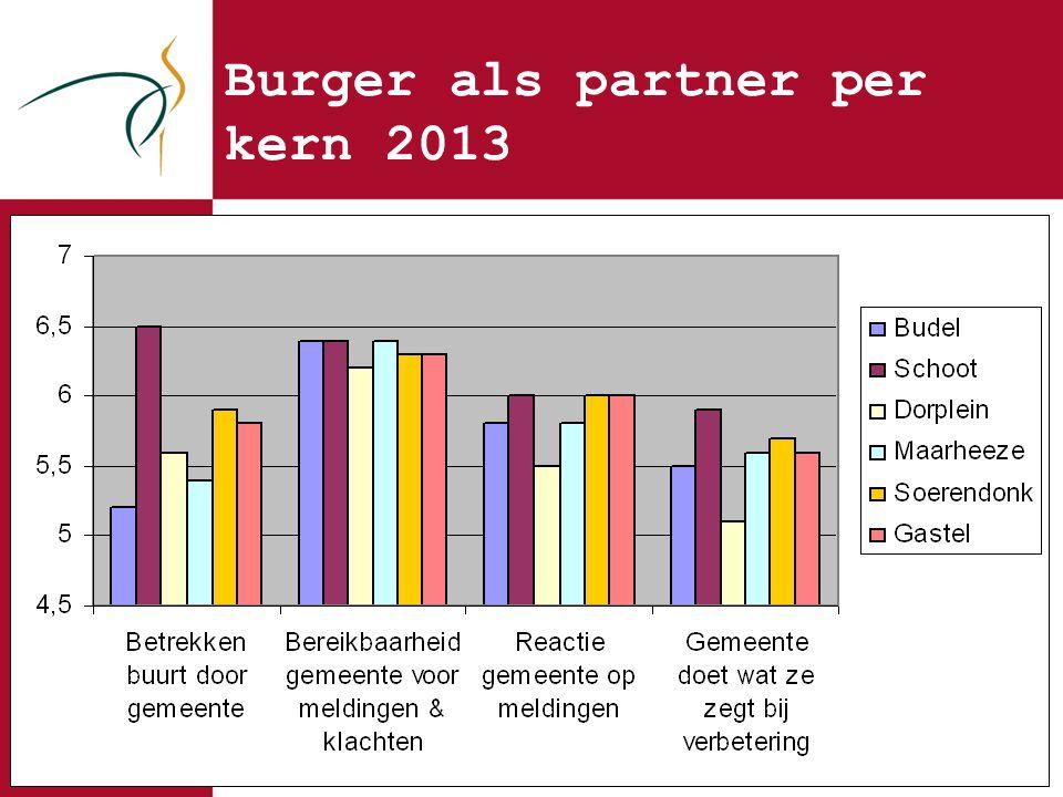 Burger als partner per kern 2013