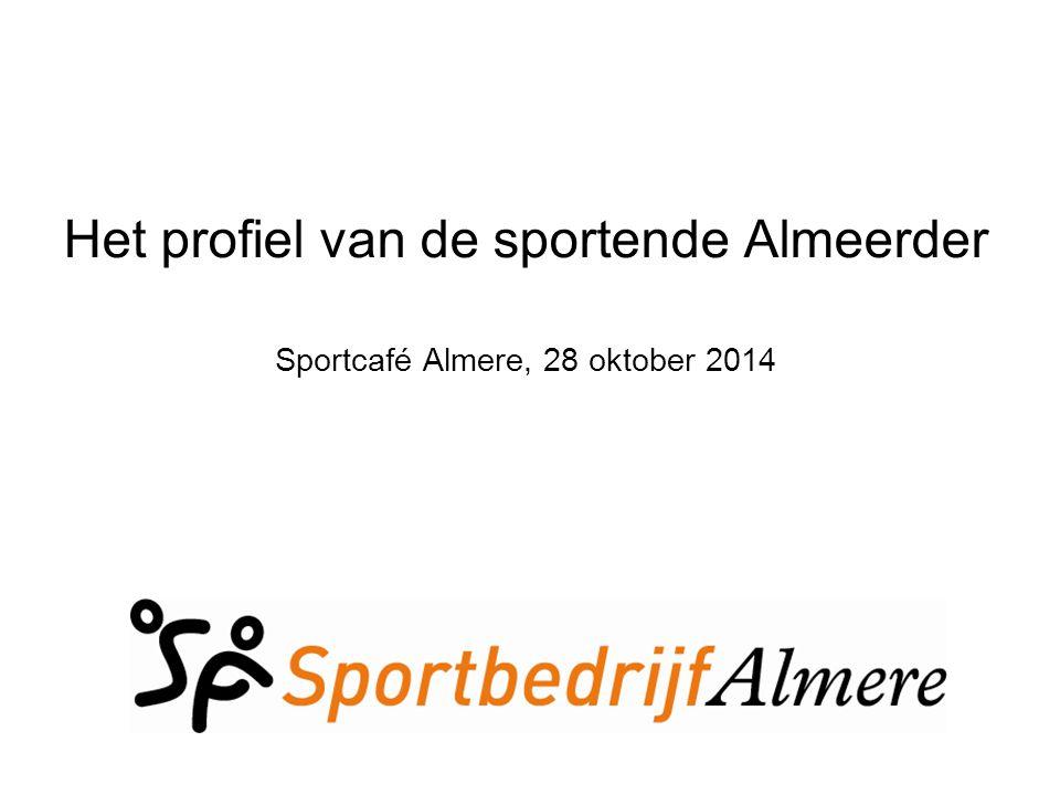 Het profiel van de sportende Almeerder Sportcafé Almere, 28 oktober 2014