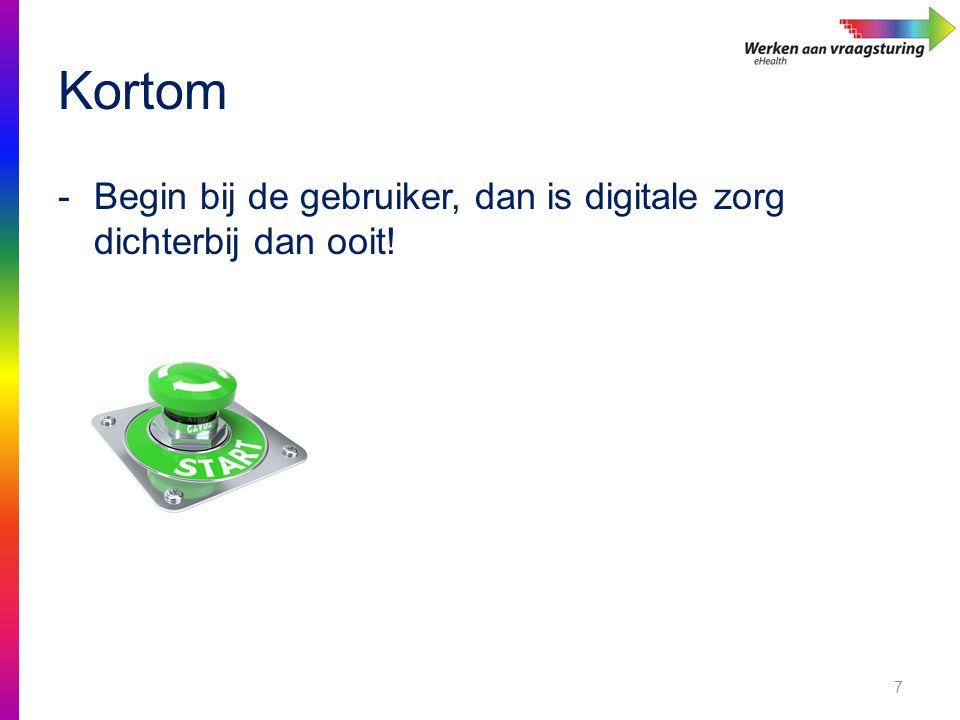 Kortom 7 -Begin bij de gebruiker, dan is digitale zorg dichterbij dan ooit!