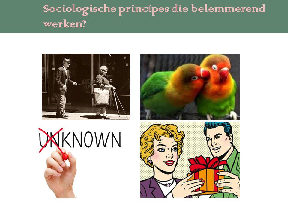 Sociologische principes die belemmerend werken