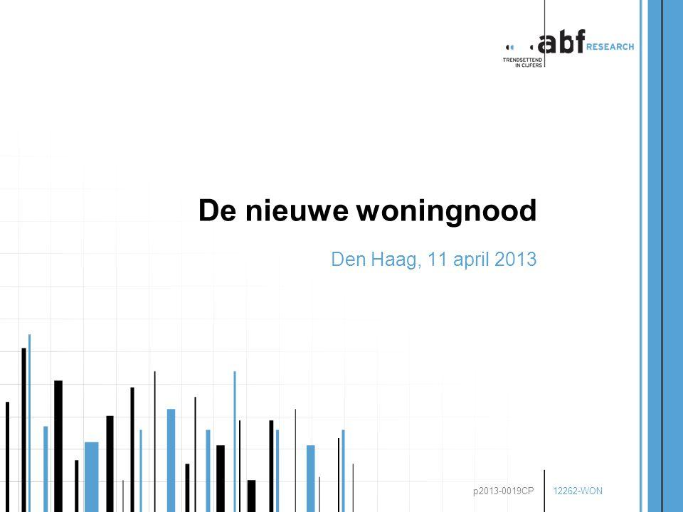 12262-WON p2013-0019CP De nieuwe woningnood Den Haag, 11 april 2013