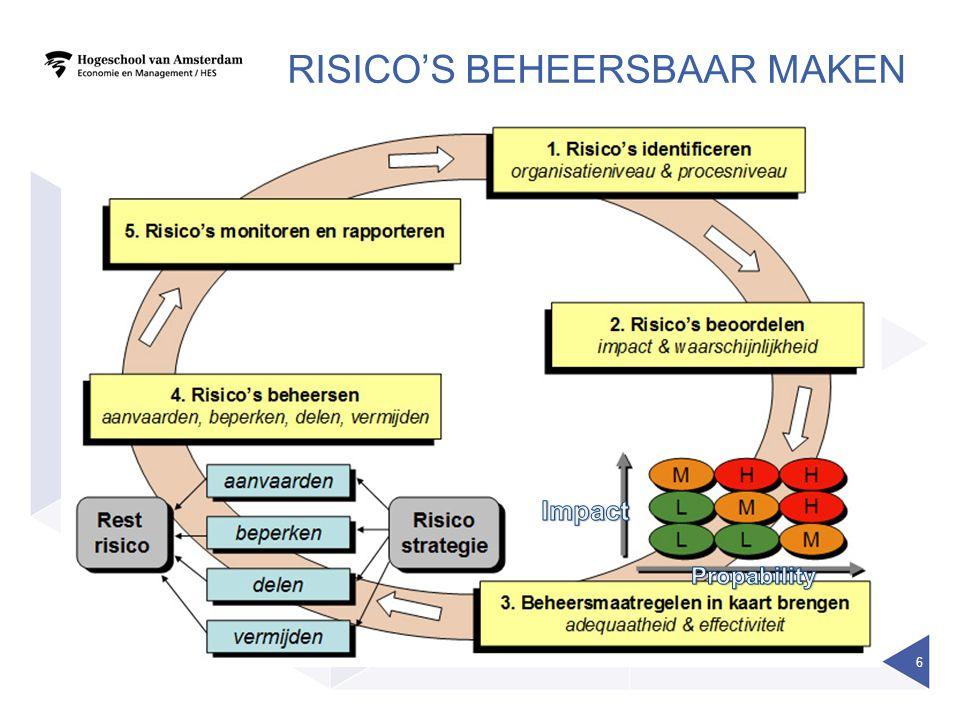 RISICO'S BEHEERSBAAR MAKEN 6
