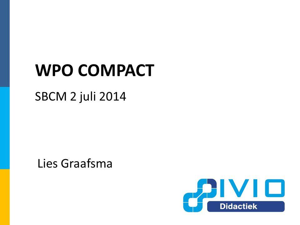 Lies Graafsma WPO COMPACT SBCM 2 juli 2014