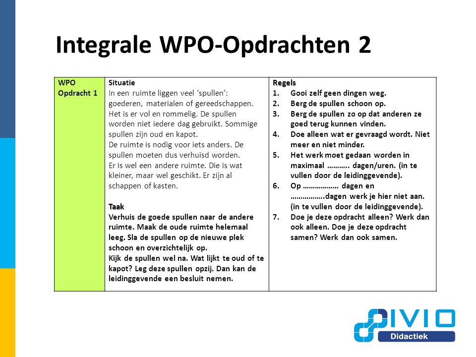 Integrale WPO-Opdrachten 2 WPO Opdracht 1 Situatie In een ruimte liggen veel 'spullen': goederen, materialen of gereedschappen.