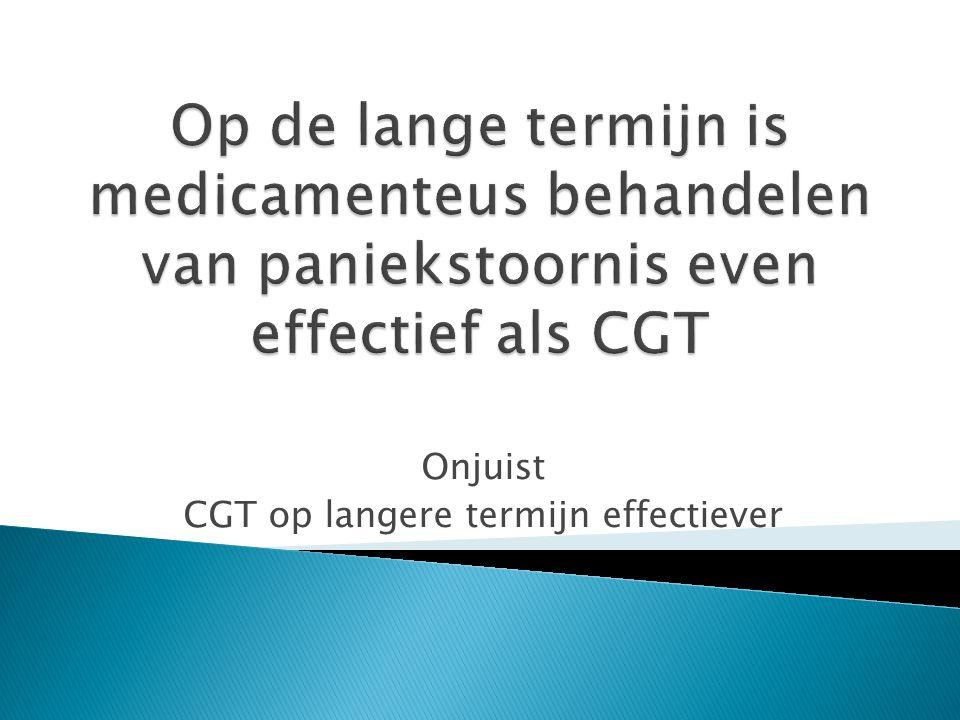 Stap 1Stap 2Stap 3 AngstklachtenVoorlichting evt PST Angststoornis Gegeneraliseerde angststoornis Sociale fobie Paniekstoornis VoorlichtingCGT (zelfhulp)CGT (therapeut) of antidepressivu m Specifieke fobie Hypochondrie VoorlichtingCGT (zelfhulp)CGT (therapeut) PTSSVoorlichting en verwijzing CGT/EMDR OCSVoorlichting en verwijzing