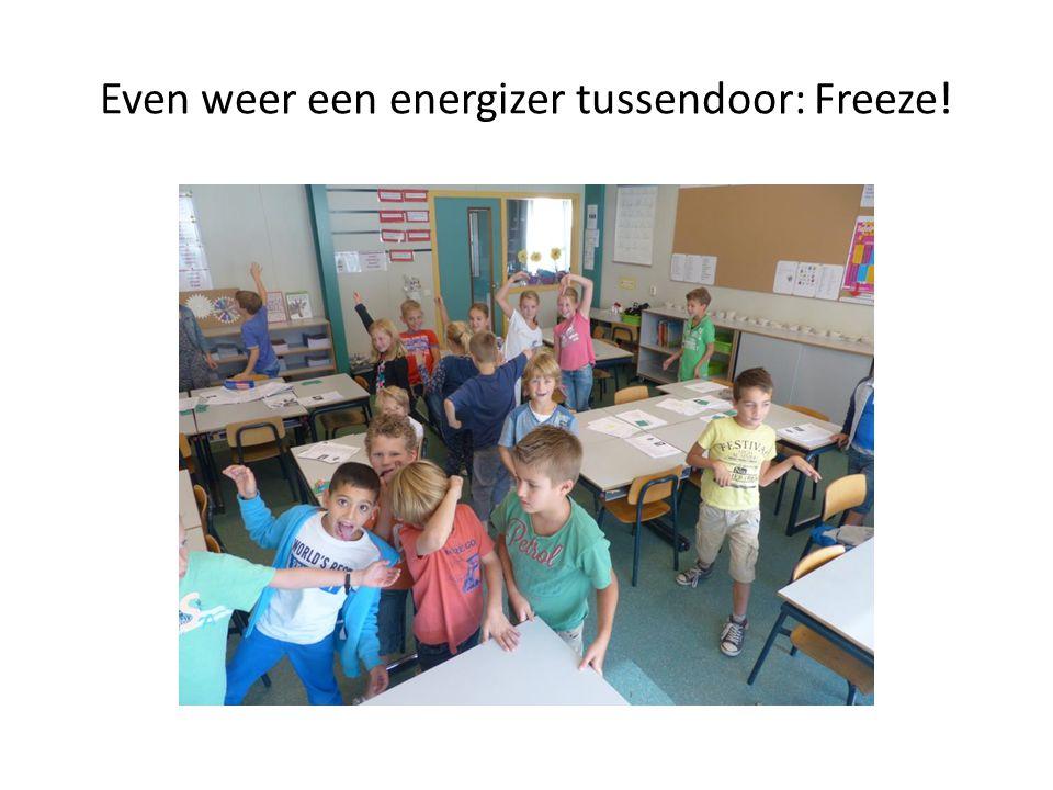Even weer een energizer tussendoor: Freeze!