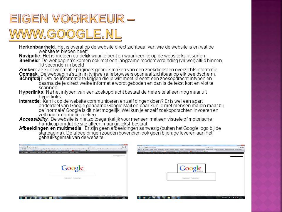 Herkenbaarheid: Het is overal op de website direct zichtbaar van wie de website is en wat de website te bieden heeft.