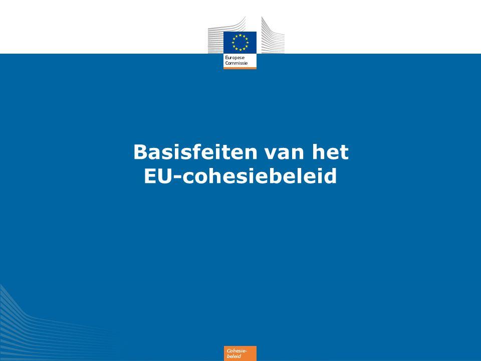 13 Financiering cohesiebeleid 2014-2020 (351,8 miljard EUR) 182,2 miljard EUR 35,4 miljard EUR 54,3 miljard EUR 10,2 miljard EUR 0,4 miljard EUR 3,2 miljard EUR 63,3 miljard EUR 1,6 miljard EUR 1,2 miljard EUR Minder ontwikkelde regio s Overgangsregio s Meer ontwikkelde regio s Europese Territoriale Samenwerking Innovatieve acties door steden Jongerenwerkgelegenheidsinitiatief (aanvullend) Cohesiefonds Specifieke toewijzing voor ultraperifere en dunbevolkte regio s Technische ondersteuning