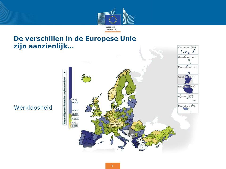 4 De verschillen in de Europese Unie zijn aanzienlijk… Werkloosheid