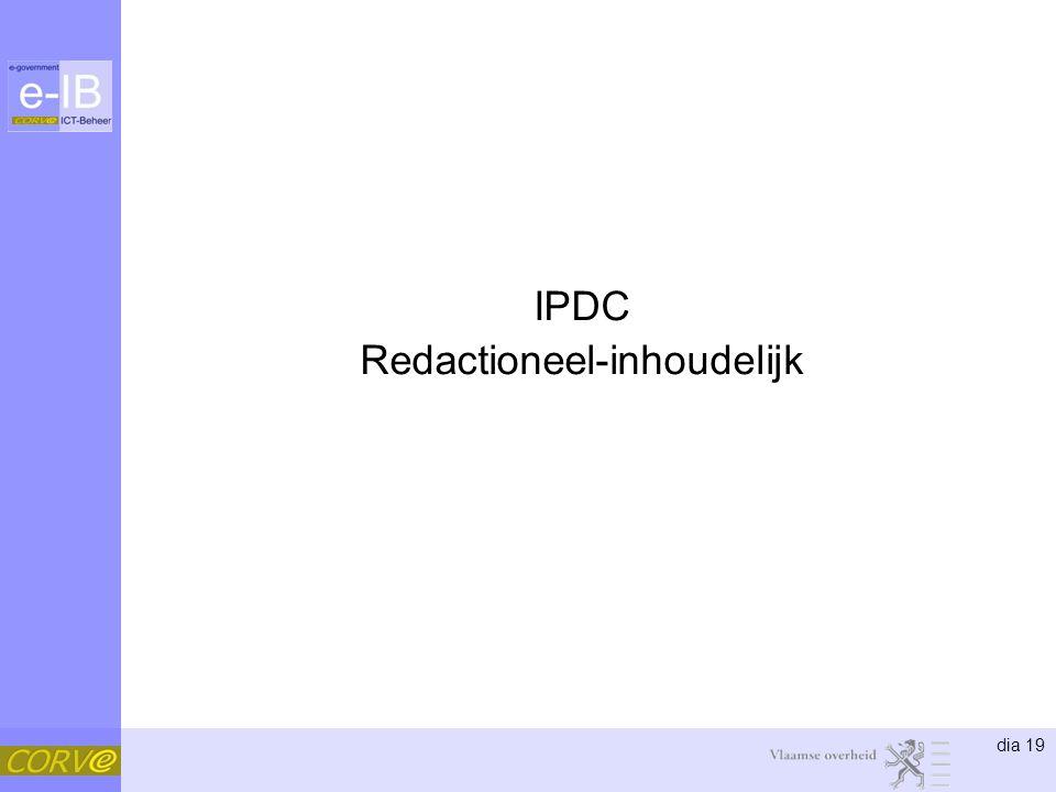 dia 19 IPDC Redactioneel-inhoudelijk