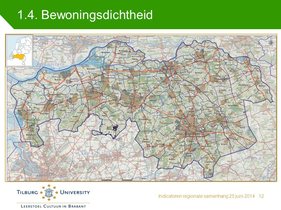 1.4. Bewoningsdichtheid Indicatoren regionale samenhang 25 juni 201412