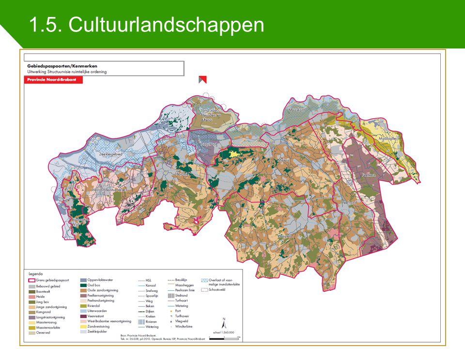 1.5. Cultuurlandschappen Indicatoren regionale samenhang 25 juni 201413