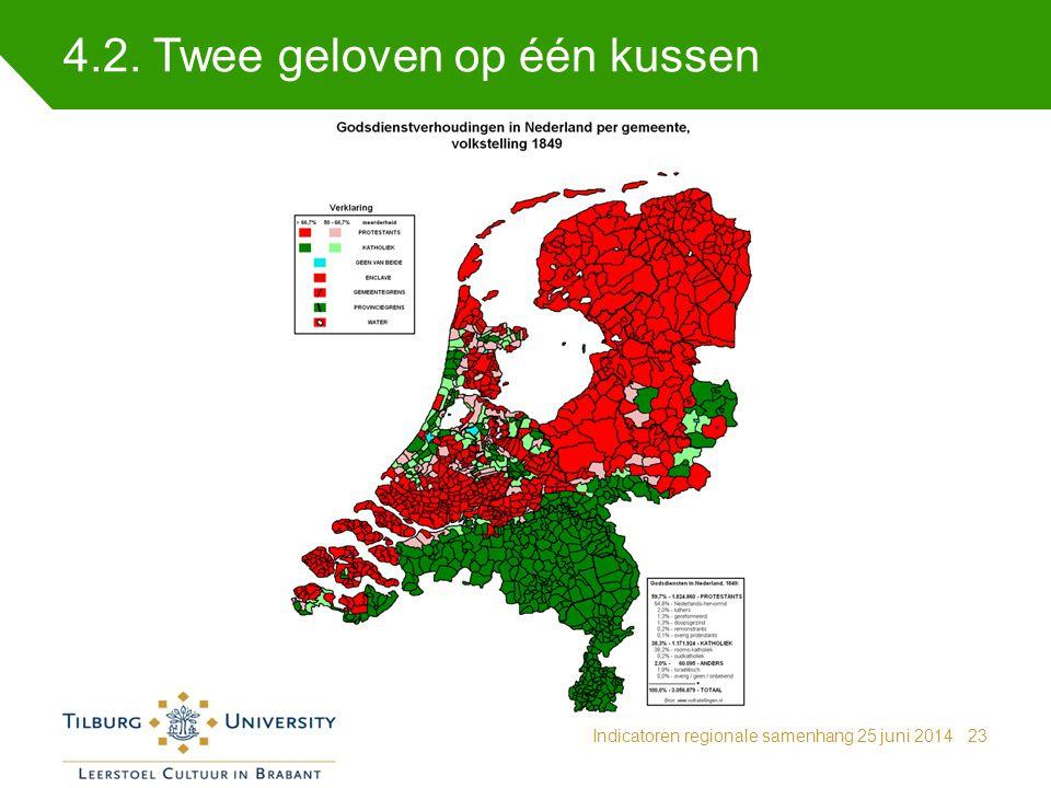 4.2. Twee geloven op één kussen Indicatoren regionale samenhang 25 juni 201423