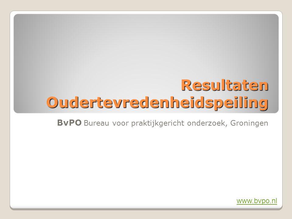 2BvPO Bureau voor praktijkgericht onderzoek, Groningen 2 Ouderpeiling (OTP) BS Het Grote Voorbeeld te Groningen Resultaten van de oudertevredenheidpeiling 2010