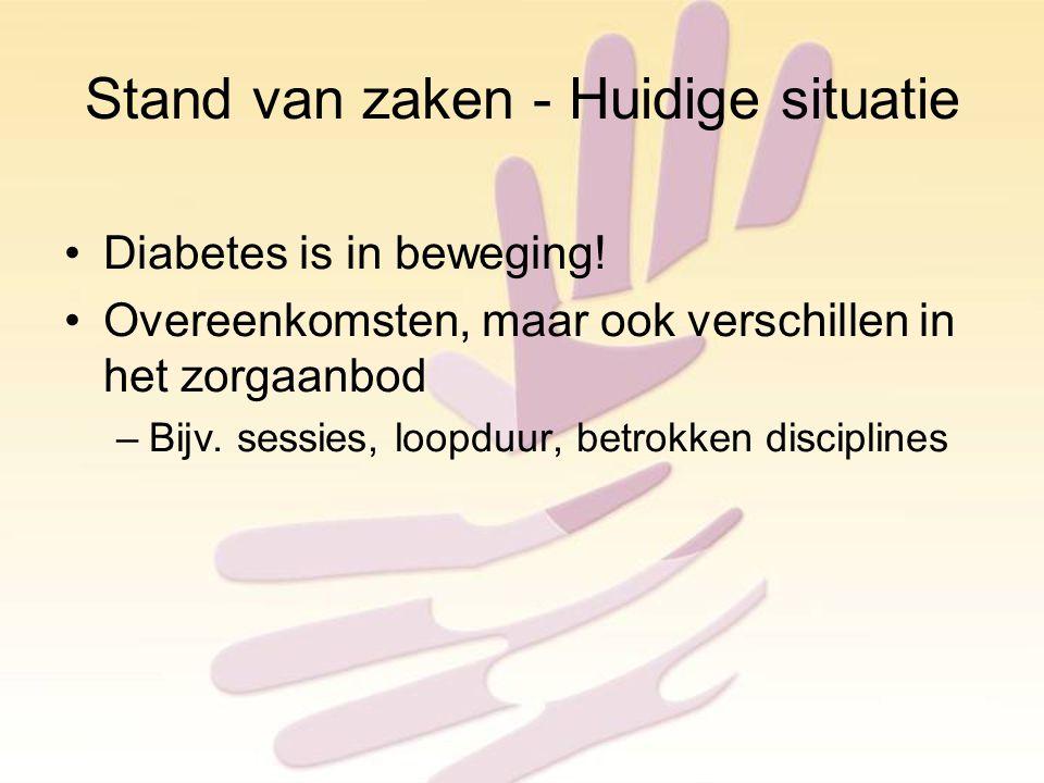 Stand van zaken - Huidige situatie Diabetes is in beweging.