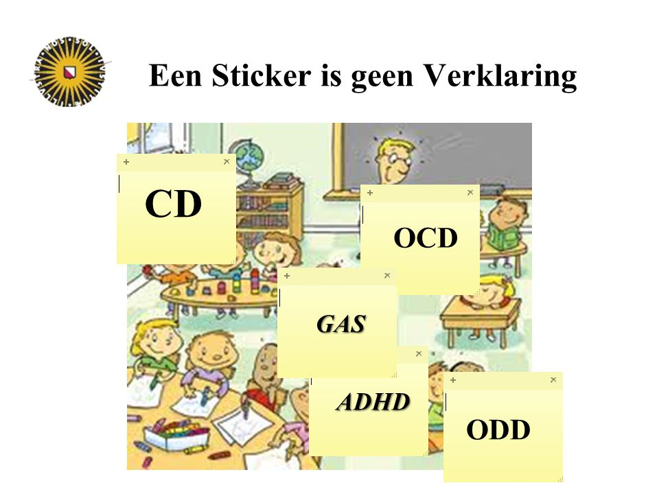 Een Sticker is geen Verklaring ODD CD ADHD OCD GAS