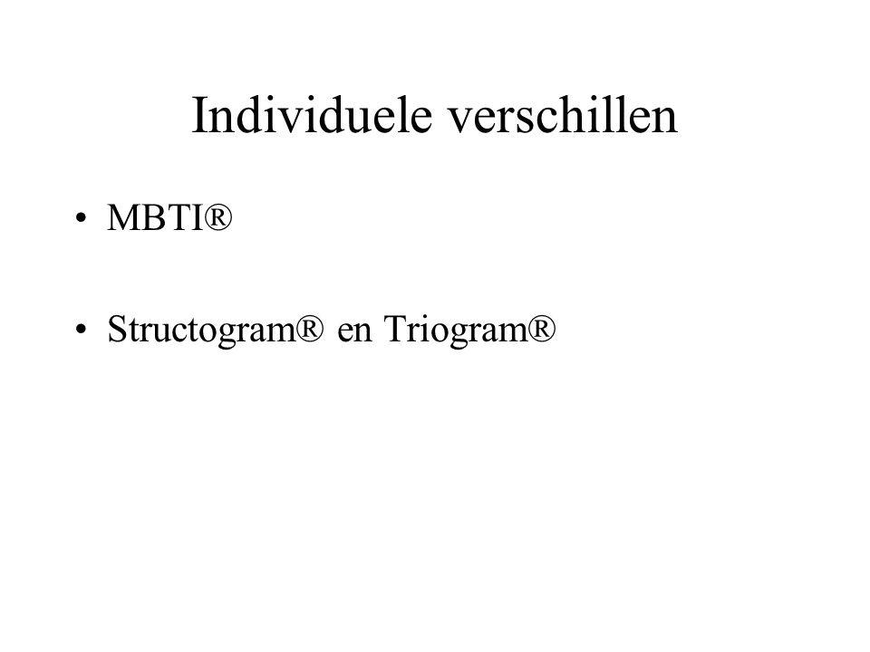 Individuele verschillen MBTI® Structogram® en Triogram®
