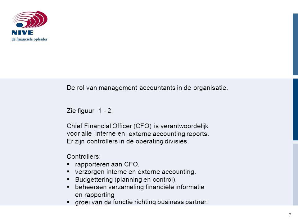 7 De rol van management accountants in deorganisatie.