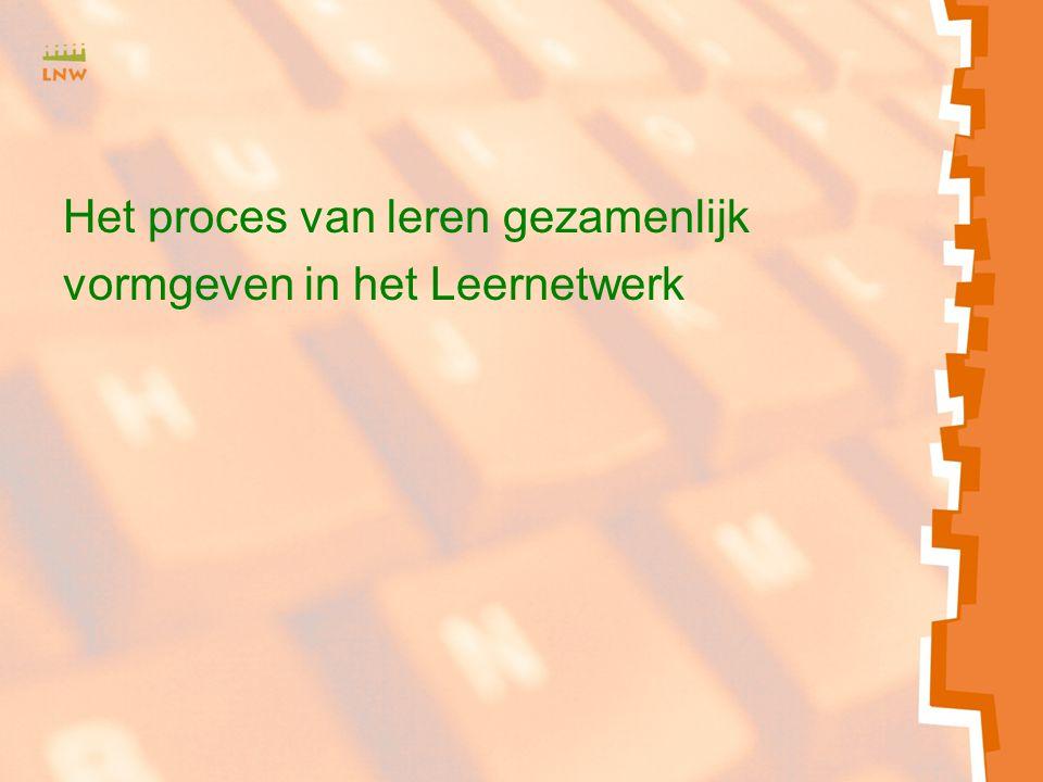 Het proces van leren gezamenlijk vormgeven in het Leernetwerk