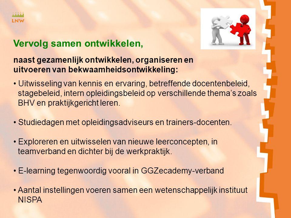 Zxmcfnhbv<SJH b Uitwisseling van kennis en ervaring, betreffende docentenbeleid, stagebeleid, intern opleidingsbeleid op verschillende thema's zoals B