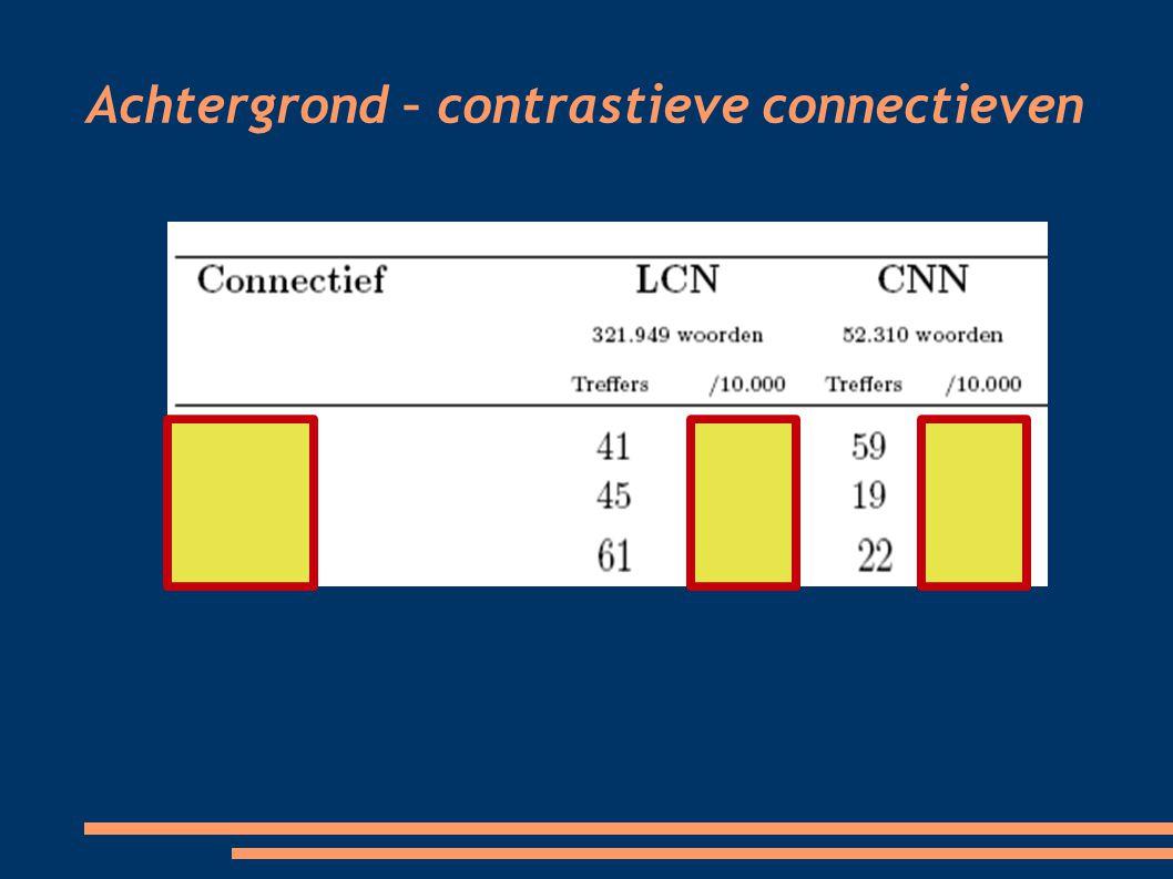 Achtergrond – contrastieve connectieven