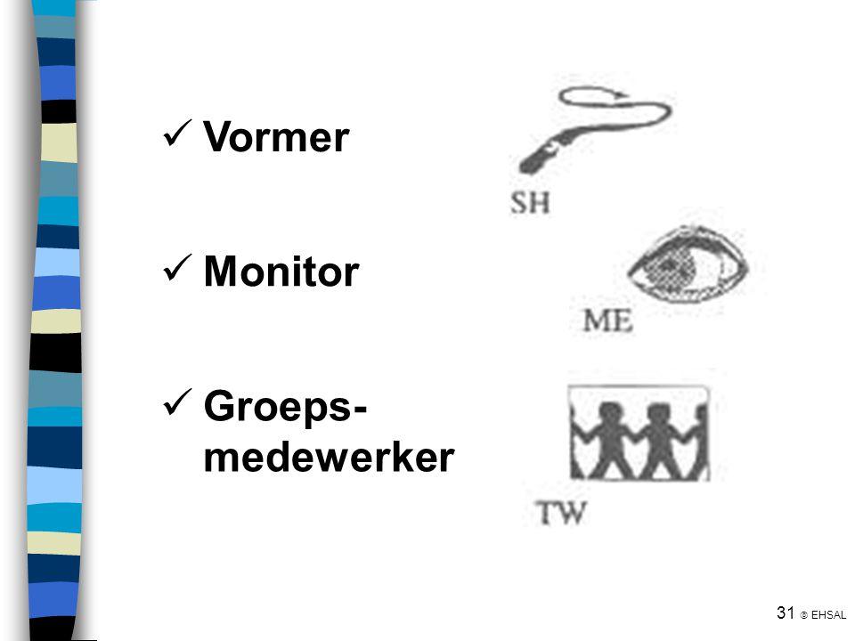 31  EHSAL Vormer Monitor Groeps- medewerker