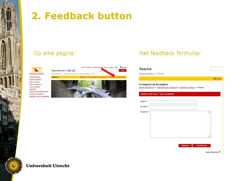 2. Feedback button Op elke pagina: Het feedback formulier