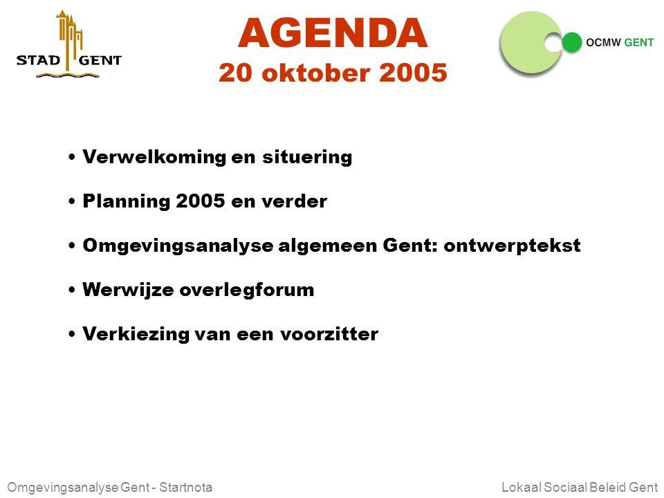 Omgevingsanalyse Gent - Startnota Lokaal Sociaal Beleid Gent OVERLEGFORUM JURIDISCHE BEGELEIDING