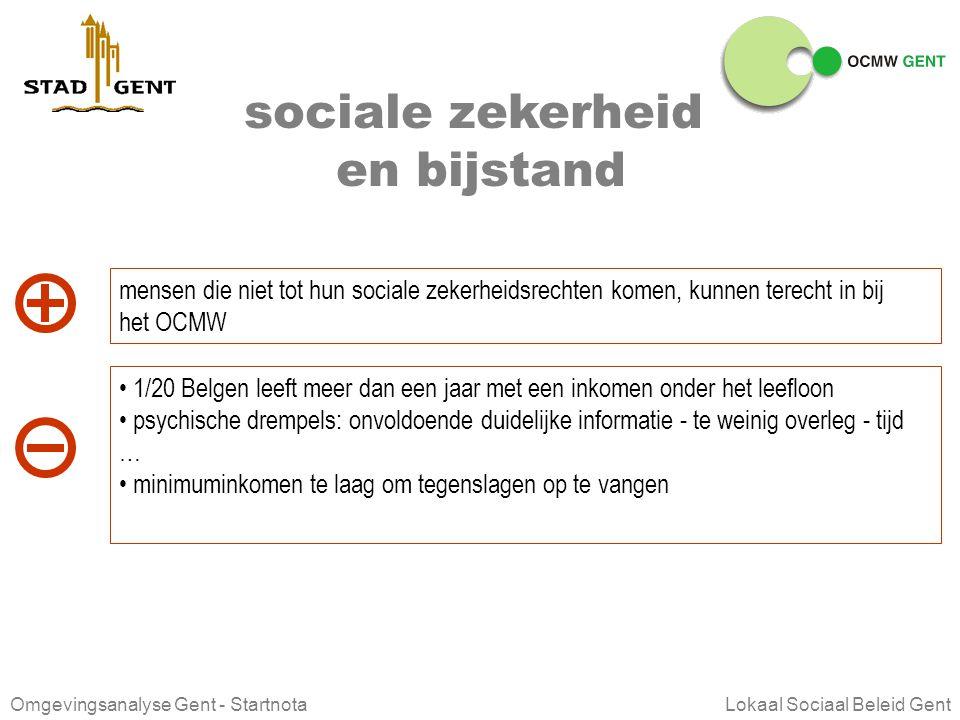 Omgevingsanalyse Gent - Startnota Lokaal Sociaal Beleid Gent gezondheid Uitgebreid aanbod aan voorzieningen in de gezondheidszorg Meer sterfte door zi