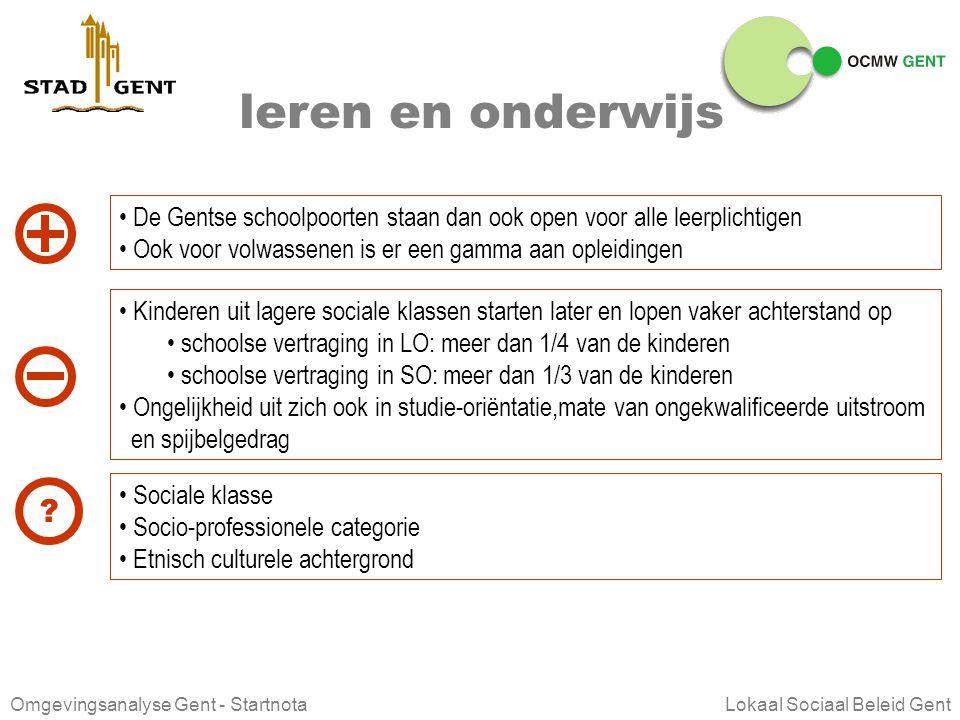 Omgevingsanalyse Gent - Startnota Lokaal Sociaal Beleid Gent sociale zekerheid en bijstand mensen die niet tot hun sociale zekerheidsrechten komen, ku