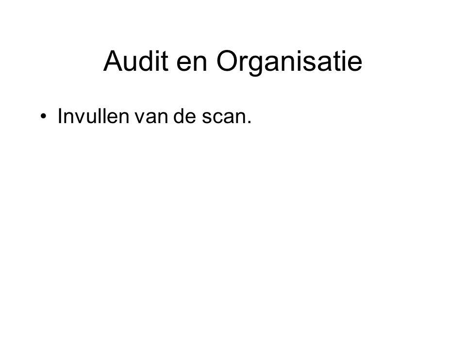 Audit en Organisatie Invullen van de scan.
