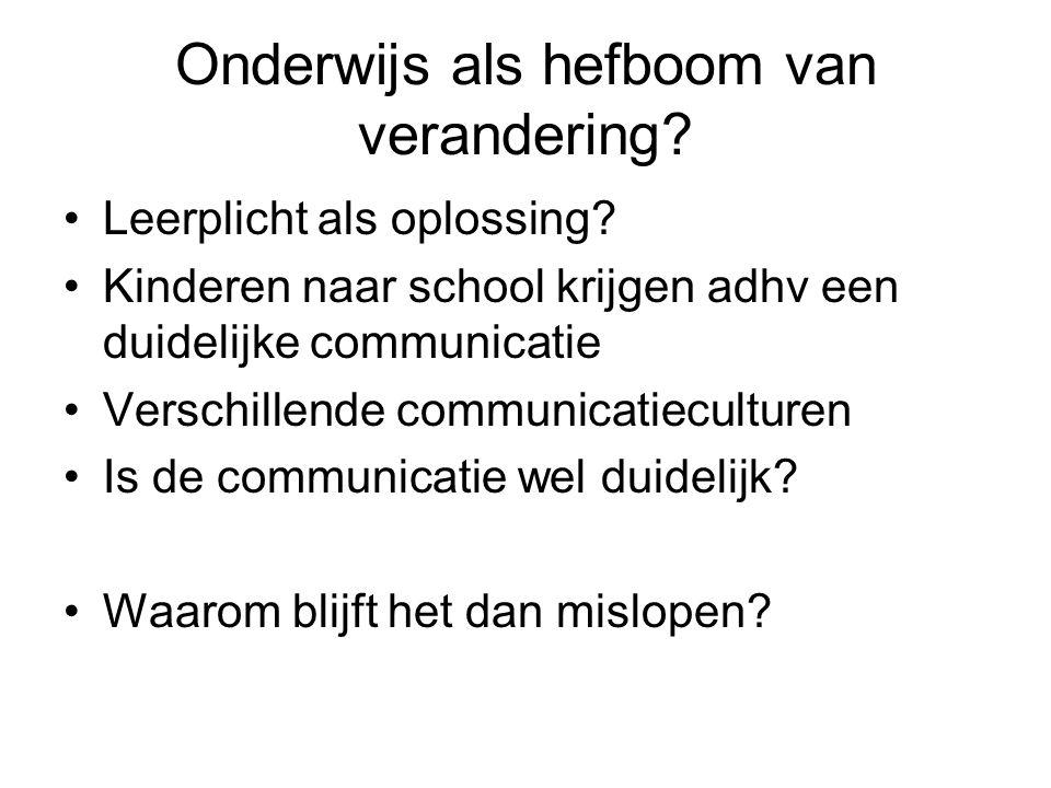 De verschillen Verschil in gebruik van communicatie.