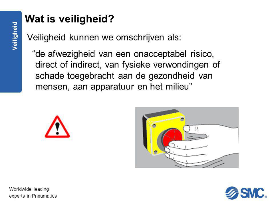 "Worldwide leading experts in Pneumatics Veiligheid Veiligheid kunnen we omschrijven als: ""de afwezigheid van een onacceptabel risico, direct of indire"