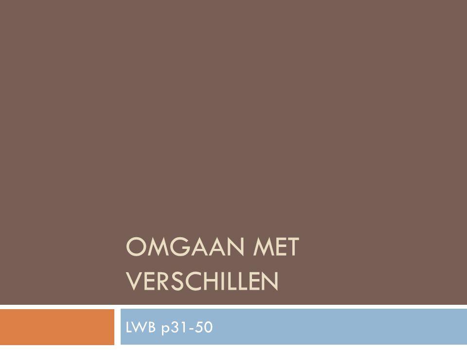 OMGAAN MET VERSCHILLEN LWB p31-50