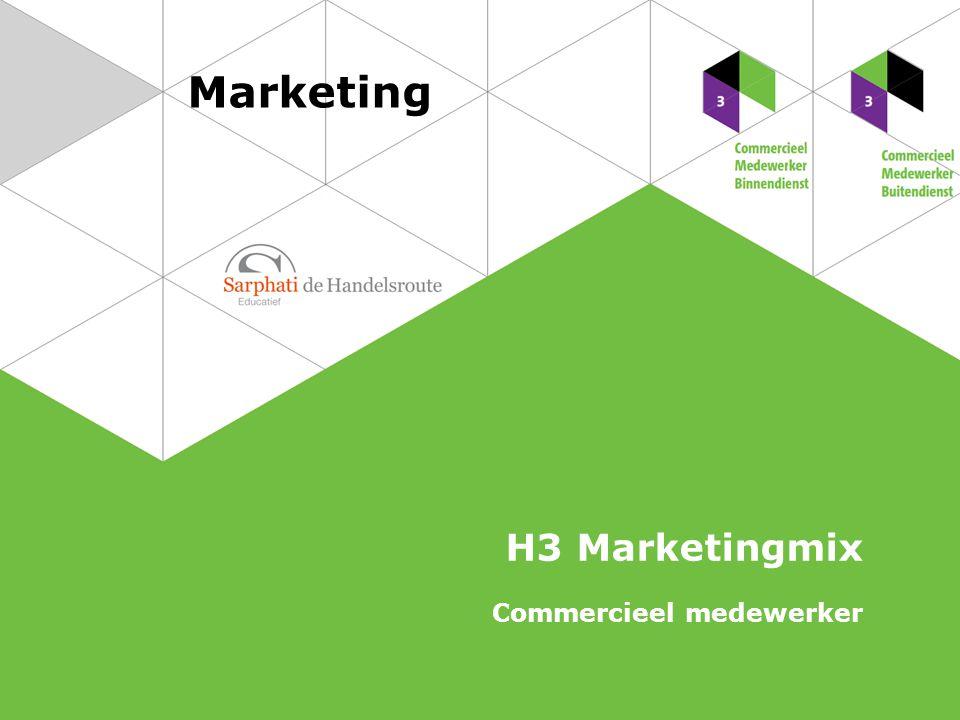 De p's van de marketingmix 2 Marketing | Commercieel medewerker