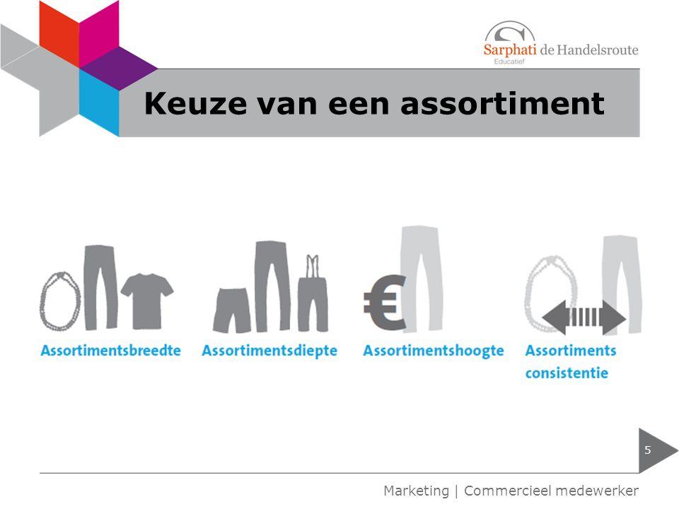 Keuze van een assortiment 5 Marketing | Commercieel medewerker