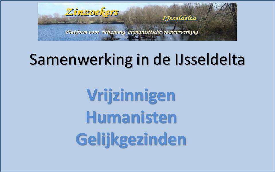 VrijzinnigenHumanistenGelijkgezinden Samenwerking in de IJsseldelta