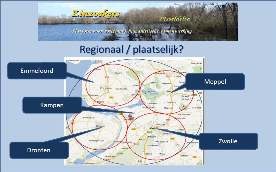 Regionaal / plaatselijk Emmeloord Dronten Meppel Zwolle Kampen