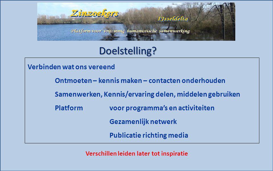 Wat deed Zinzoekers-IJsseldelta Werkgroep Zinzoekers 2011 - 2013