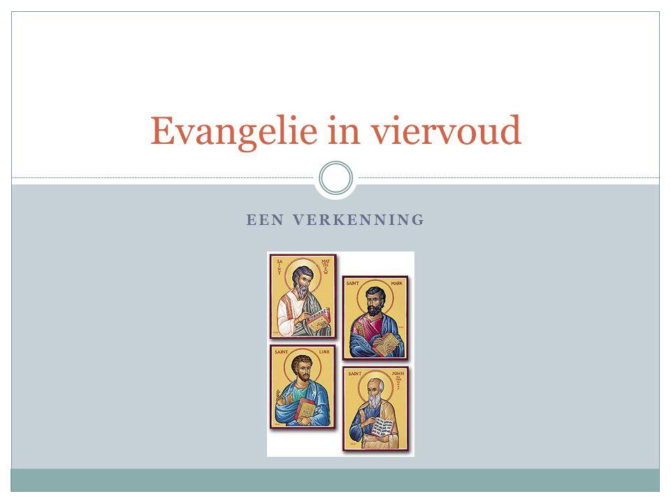 Introductie De vier evangeliën zijn onze belangrijkste bronnen om informatie te krijgen over het leven van Jezus.