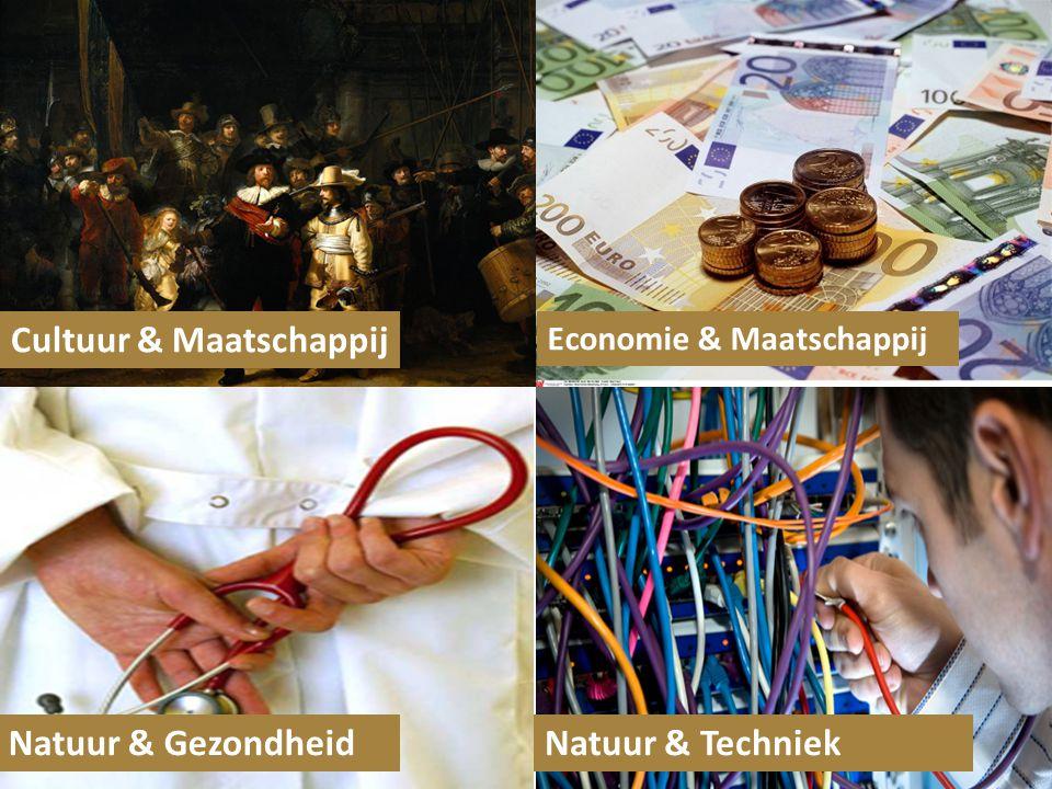 Cultuur & Maatschappij Economie & Maatschappij Natuur & GezondheidNatuur & Techniek