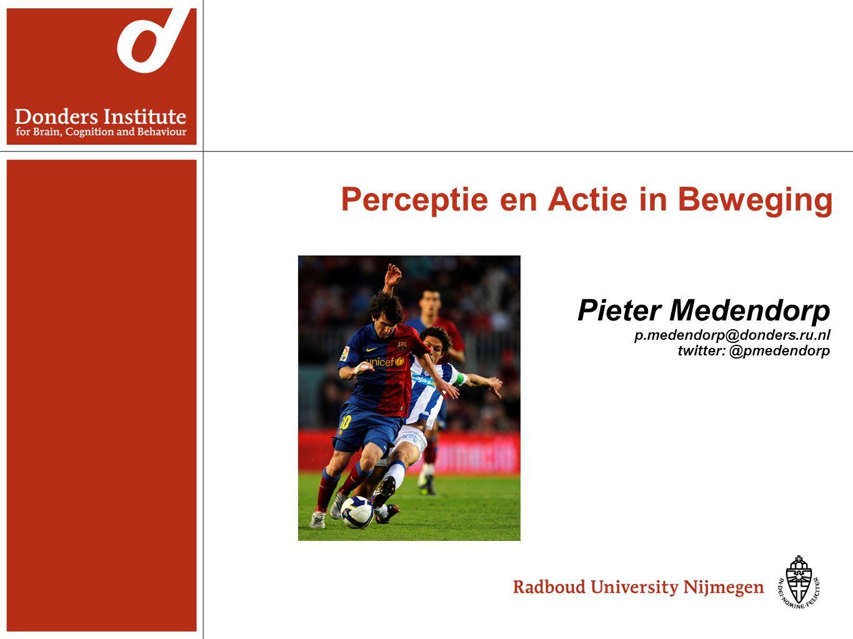 Perceptie en Actie in Beweging Pieter Medendorp p.medendorp@donders.ru.nl twitter: @pmedendorp