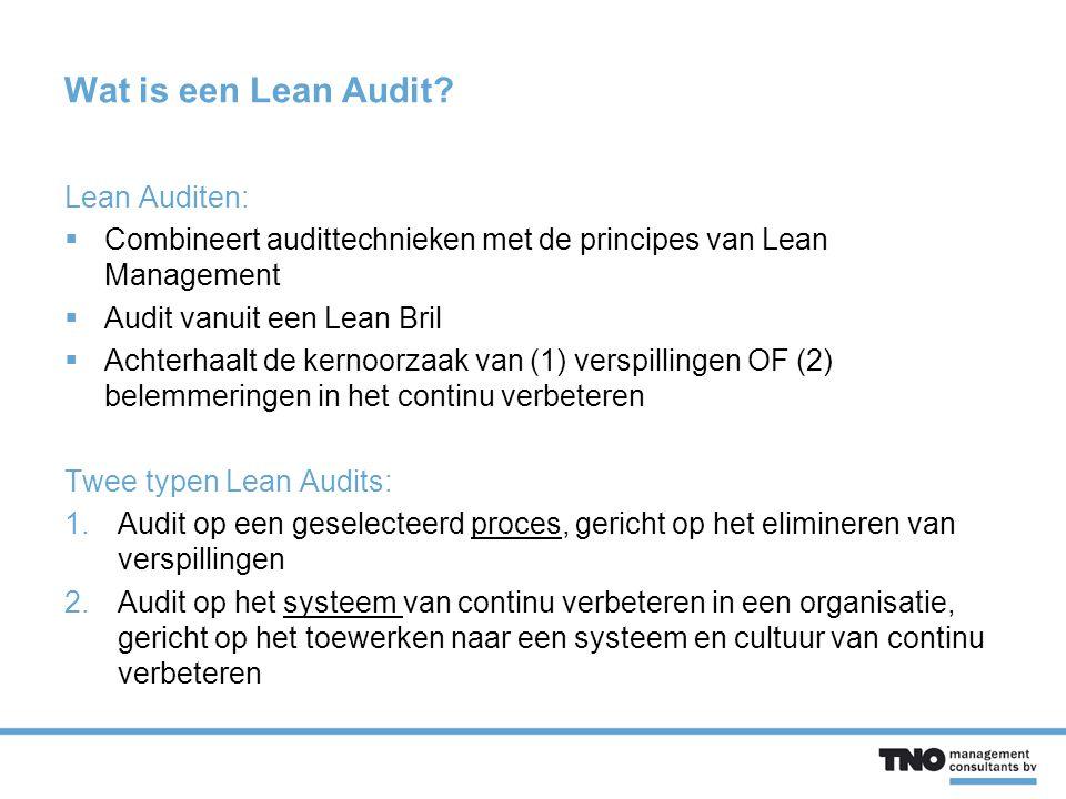 Wat is een Lean Audit.