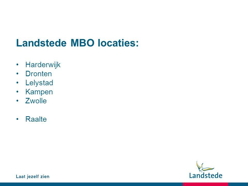 Landstede MBO locaties: Harderwijk Dronten Lelystad Kampen Zwolle Raalte