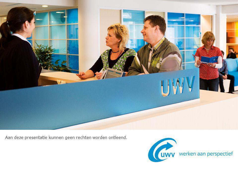 2 Met een WW uitkering starten als zelfstandige Starten als zelfstandige Geldend vanaf 1 januari 2013 Versie 1.1 oktober 2013