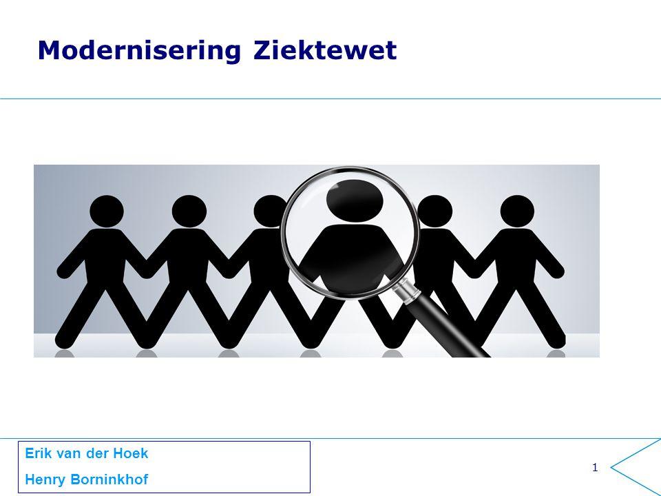 1 Modernisering Ziektewet Erik van der Hoek Henry Borninkhof